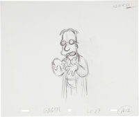 The Simpsons Homer, Lisa and Professor Frink Animation Production Drawing Original Art Group (Fox, undated).... (Total:...