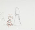 animation art:Production Drawing, The Simpsons Bart and Dewey Largo Animation ProductionDrawing Original Art Group (Fox, undated).... (Total: 2 Items)