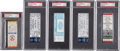 Baseball Collectibles:Tickets, Major League Baseball PSA Graded Tickets Lot of 5.... (Total: 5items)