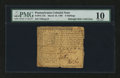 Colonial Notes:Pennsylvania, Pennsylvania March 10, 1769 5s PMG Very Good 10....