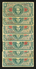 Military Payment Certificates:Series 641, Series 641 $5 Fine Seven Examples.... (Total: 7 notes)