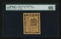 Colonial Notes:Delaware, Delaware May 1, 1777 3d PMG Gem Uncirculated 66 EPQ....