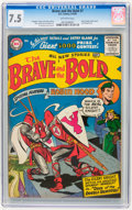 Silver Age (1956-1969):Adventure, The Brave and the Bold #7 (DC, 1956) CGC VF- 7.5 Off-white pages....