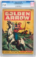 Golden Age (1938-1955):Western, Golden Arrow #3 (Fawcett, 1945) CGC FN/VF 7.0 Light tan to off-white pages....