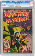 Golden Age (1938-1955):Science Fiction, Mystery in Space #2 (DC, 1951) CGC FN- 5.5 Off-white pages....