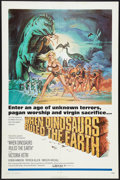 """Movie Posters:Fantasy, When Dinosaurs Ruled the Earth (Warner Brothers, 1971). One Sheet (27"""" X 41""""). Fantasy.. ..."""