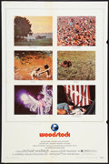 "Movie Posters:Rock and Roll, Woodstock (Warner Brothers, 1970). One Sheet (27"" X 41""). Rock andRoll.. ..."