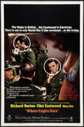 "Movie Posters:War, Where Eagles Dare (MGM, 1968). One Sheet (27"" X 41"") Style B. War....."
