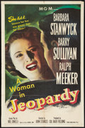 """Movie Posters:Thriller, Jeopardy (MGM, 1953). One Sheet (27"""" X 41""""). Thriller.. ..."""