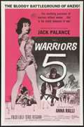 "Movie Posters:War, Warriors 5 (American International, 1962). One Sheet (27"" X 41"").War.. ..."