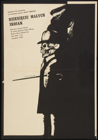 "Ten Little Indians (Tenlit, 1968). Polish A1 (22"" X 33""). Mystery"