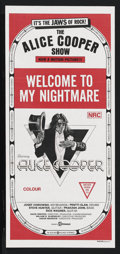 "Movie Posters:Documentary, Welcome to My Nightmare (Filmways, 1975). Australian Daybill (13"" X 30""). ..."