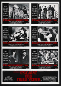 """Escape from New York (Columbia, 1981). Australian One Stop (27"""" X 40""""). Action. Starring Kurt Russell, Lee Van..."""