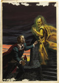 "Original Comic Art:Covers, Classics Illustrated #99 (Second Printing) ""Hamlet"" Cover PaintingOriginal Art (Gilberton, 1954)...."