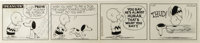Charles Schulz - Peanuts Daily Comic Strip Original Art, dated 1-27-56 (United Feature Syndicate, 1956)