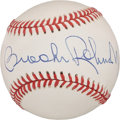 Autographs:Baseballs, Brooks Robinson Single Signed Baseball PSA NM-MT+ 8.5....