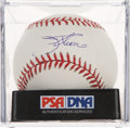 Autographs:Baseballs, Jim Thome Single Signed Baseball PSA Mint 9....