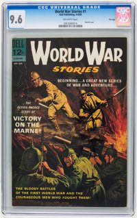 World War Stories #1 File Copy (Dell, 1965) CGC NM+ 9.6 Off-white pages