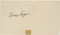 Autographs:Post Cards, 1949 Honus Wagner Signed Government Postcard....