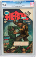 Golden Age (1938-1955):War, Heroic Comics #81 (Eastern Color, 1953) CGC NM 9.4 Cream tooff-white pages....