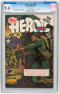Golden Age (1938-1955):War, Heroic Comics #83 (Eastern Color, 1953) CGC NM 9.4 Off-white pages....