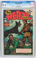 Golden Age (1938-1955):War, Heroic Comics #86 (Eastern Color, 1953) CGC NM- 9.2 Off-white pages....