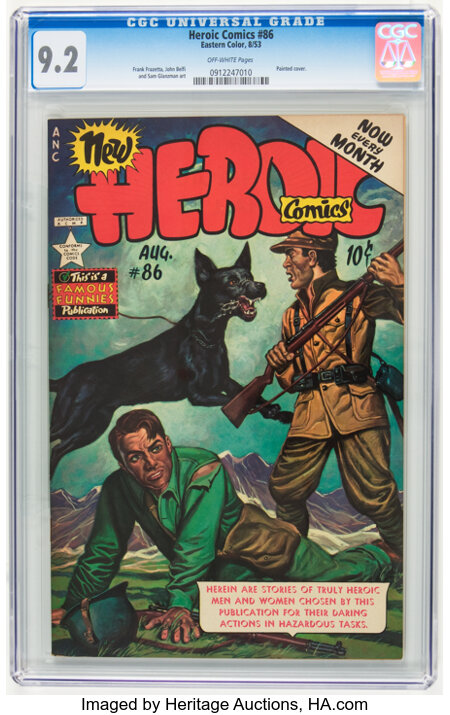 Heroic Comics #86 (Eastern Color, 1953) CGC NM- 9.2 Off-white pages....