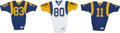 Football Collectibles:Uniforms, Late 1980's Los Angeles Rams Game Worn Jerseys Lot of 3. ... (Total: 3 items)