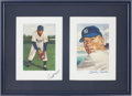 Autographs:Others, Mickey Mantle and Willie Mays Signed Lithograph....