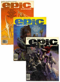 Magazines:Science-Fiction, Epic Illustrated Group (Marvel, 1980-86) Condition: Average VF+....(Total: 10 )