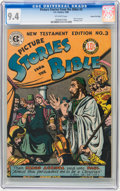 Golden Age (1938-1955):Religious, Picture Stories from the Bible New Testament Edition #3 Gaines Filepedigree 4/12 (EC, 1946) CGC NM 9.4 Off-white pages....