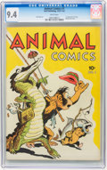 Golden Age (1938-1955):Funny Animal, Animal Comics #1 (Dell, 1942) CGC NM 9.4 White pages....