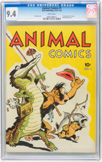 Animal Comics #1 (Dell, 1942) CGC NM 9.4 White pages