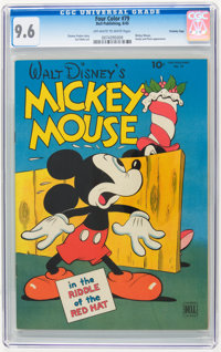 Four Color #79 Mickey Mouse - Crowley Copy pedigree (Dell, 1945) CGC NM+ 9.6 Off-white to white pages