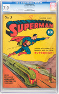 Golden Age (1938-1955):Superhero, Superman #3 (DC, 1940) CGC FN/VF 7.0 Cream to off-white pages....