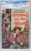 Silver Age (1956-1969):Miscellaneous, Four Color #738 Westward Ho the Wagons - Circle 8 pedigree (Dell, 1956) CGC NM 9.4 Off-white to white pages.