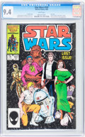 Modern Age (1980-Present):Science Fiction, Star Wars #107 (Marvel, 1986) CGC NM 9.4 White pages.