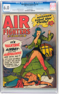 Golden Age (1938-1955):War, Air Fighters Comics V2#2 (Hillman Fall, 1943) CGC FN 6.0 Off-whitepages....