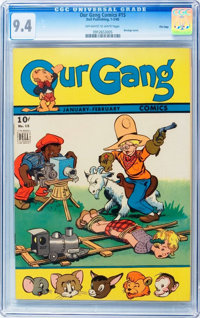 Our Gang Comics #15 - File Copy (Dell, 1945) CGC NM 9.4 Off-white to white pages