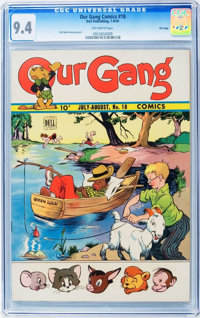 Our Gang Comics #18 - File Copy (Dell, 1945) CGC NM 9.4 Off-white pages