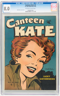 Canteen Kate #2 (St. John, 1952) CGC VF 8.0 Off-white to white pages