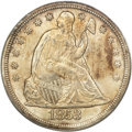 Seated Dollars, 1853 $1 MS63 PCGS....