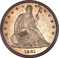 Seated Half Dollars, 1841 50C MS65 NGC....
