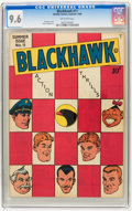 Golden Age (1938-1955):Adventure, Blackhawk #11 (Quality, 1946) CGC NM+ 9.6 Off-white pages....