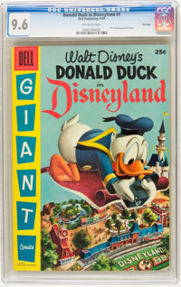 Dell Giant Comics: Donald Duck in Disneyland #1 File Copy (Dell, 1955) CGC NM+ 9.6 Off-white pages