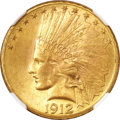 Indian Eagles, 1912-S $10 MS64 ★ NGC....