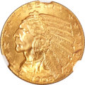 Indian Half Eagles, 1908-S $5 MS64 NGC....