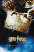 Books:Signed Editions, [J. K. Rowling]. Signed Advance Mini-Poster for Harry Potter andthe Philosopher's Stone....