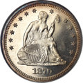 Proof Seated Quarters, 1870 25C Quarter PR65 NGC. CAC....