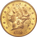 Liberty Double Eagles, 1880 $20 MS60 PCGS....